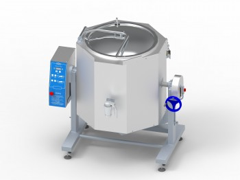 Latest offer: electric boiling pans KPEM for 60, 100 and 160 liters of the OMR-H and OMR-HK series on an adjustable stand